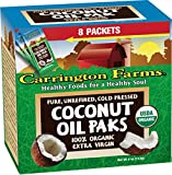 Carrington Farms Organic Coconut Oil Packs, Unrefined, 8 Packets (Pack of 6)