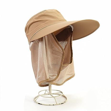 Visera Para Mujer Primavera Y Verano Protección Contra Los Rayos  Ultravioleta Protección Para La Cara Gorra 455126e9911