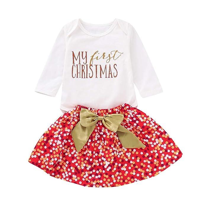 Ropa Bebe Invierno 2018, 🌈Btruely 3 Piezas recién Nacido bebé niña Carta Mameluco Tops + Tutu Falda Trajes de Navidad Conjunto Cintas de Pelo ...