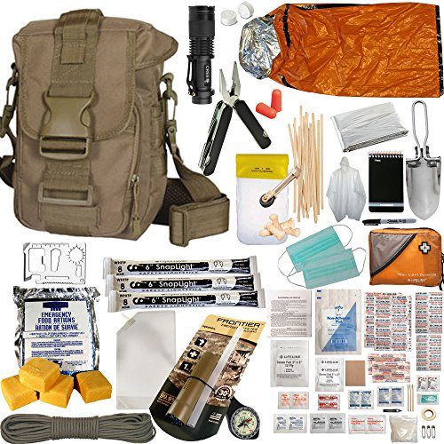 PREPPERS-FAVORITE-Complete-Get-Home-Bag-with-65-Piece-First-Aid-Kit-Ideal-Compact-Bug-Out-Bag-EDC-or-72-Hour-Kit-for-your-Car-Truck-ATV-or-Snowmobile