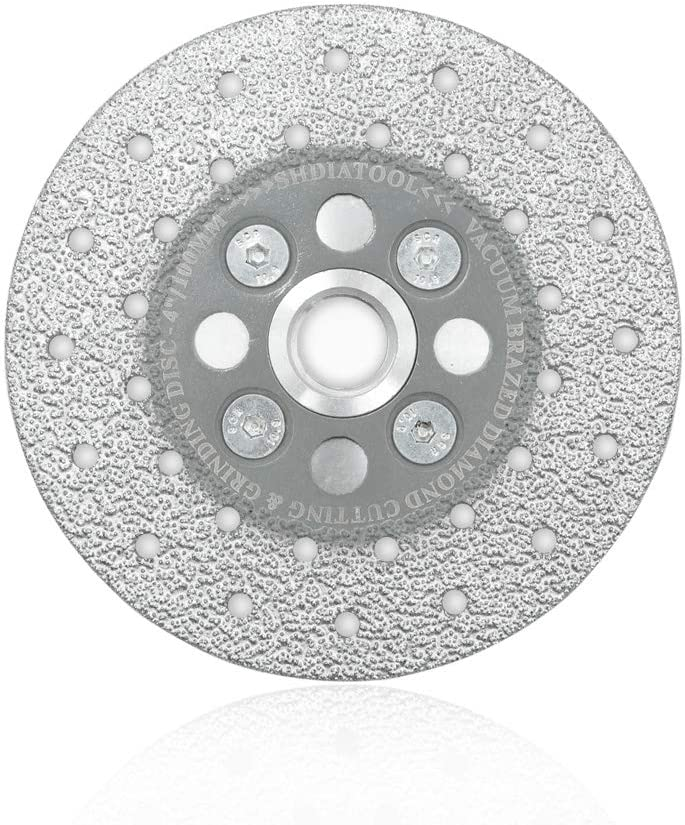 SHDIATOOL Granite Cutting Wheel for Marble Quartz, 4 Inch Fast Cutting Grinding Shaping Diamond Disc for Angle Grinder with 5/8-Inch-11 Thread