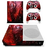 eSeeking Whole Body Vinyl Skin Sticker Decal Cover for Microsoft Xbox One Slim Console Red Galaxy Nebular