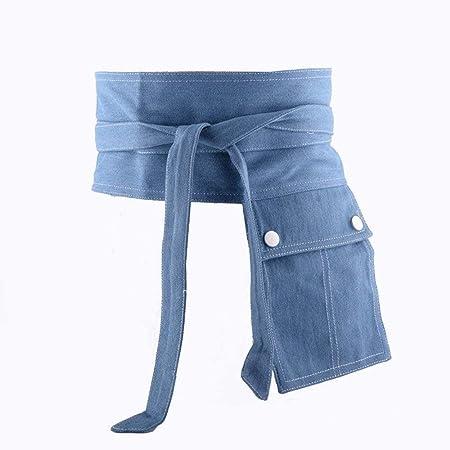 Cinturones de Mujer Cinturón de Vestir con Bolsillo Blue ...