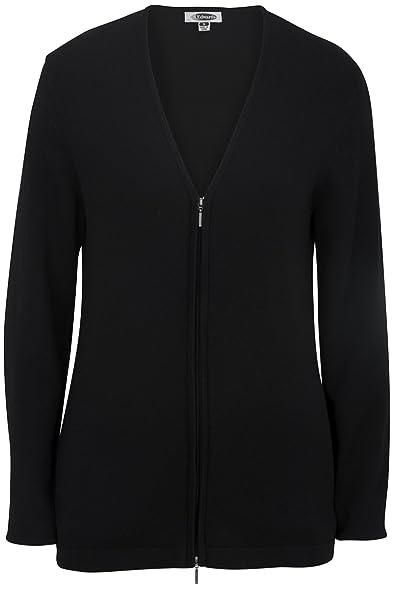 Edwards Women's Full Zip V-Neck Cardigan Sweater at Amazon Women's ...