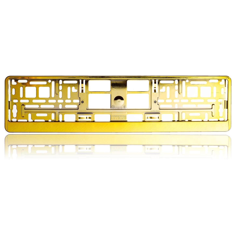 Kupfer-chromoptik MBH-Shop Kennzeichentr/äger mit Lasergravur I Dein Wunschtext I Nicht irgendein Kennzeichentr/ägen I Dein Kennzeichentr/äger