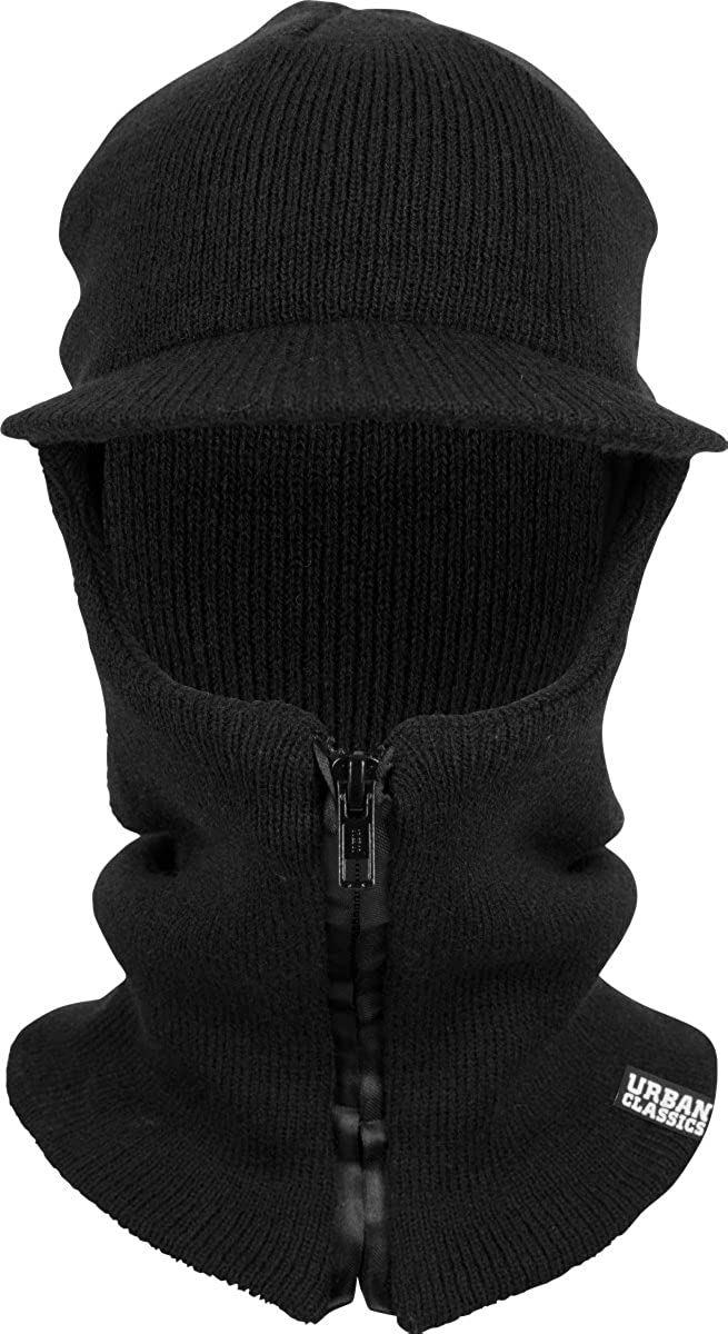 Urban Classic Zipped Balaclava Visor Black 7 Black one Size