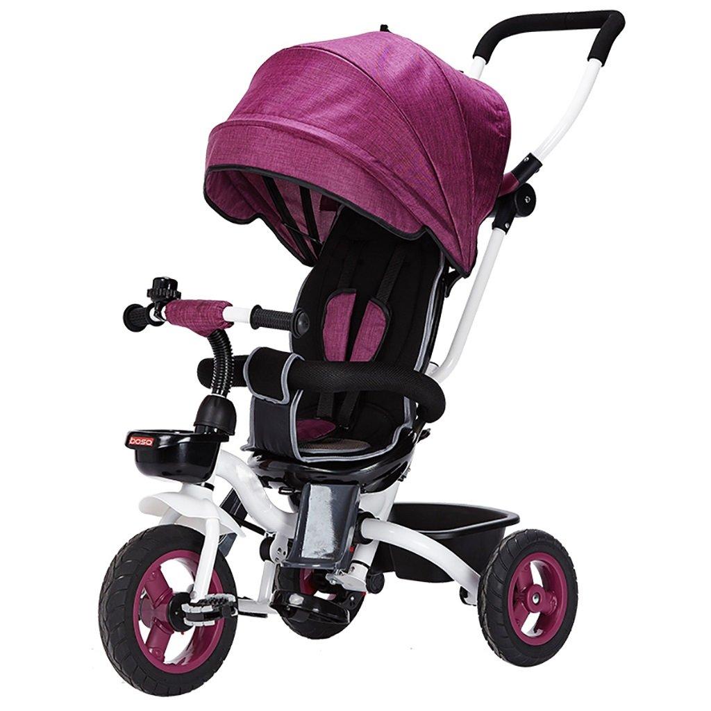 三輪車の赤ちゃんキャリッジバイク子供のおもちゃの車Foldableバイラテラルステアリング3チタン車輪保護自転車、(男の子/女の子、6ヶ月-5歳) (色 : パープル ぱ゜ぷる) B07DVD7HD1パープル ぱ゜ぷる