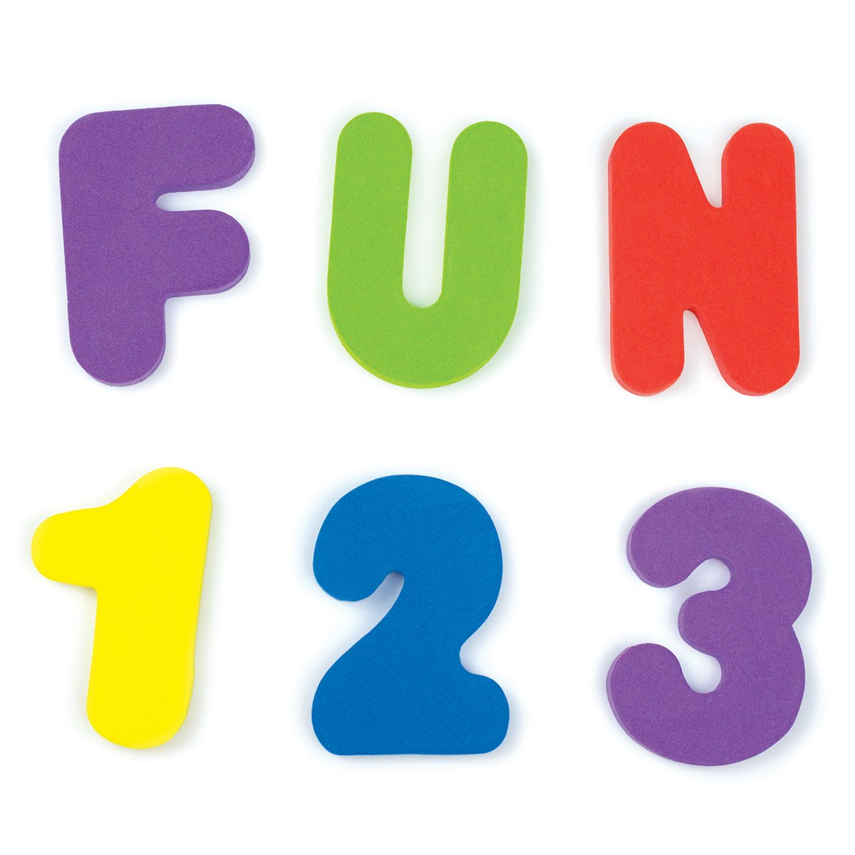 Munchkin Learn Bath Toy, 36 Bath Foam Letters and Numbers (Letters A-Z; Numbers 0-9) 01110802