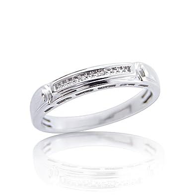 Dew Sterling Silver Band Ring - Size - N 1vAn7U