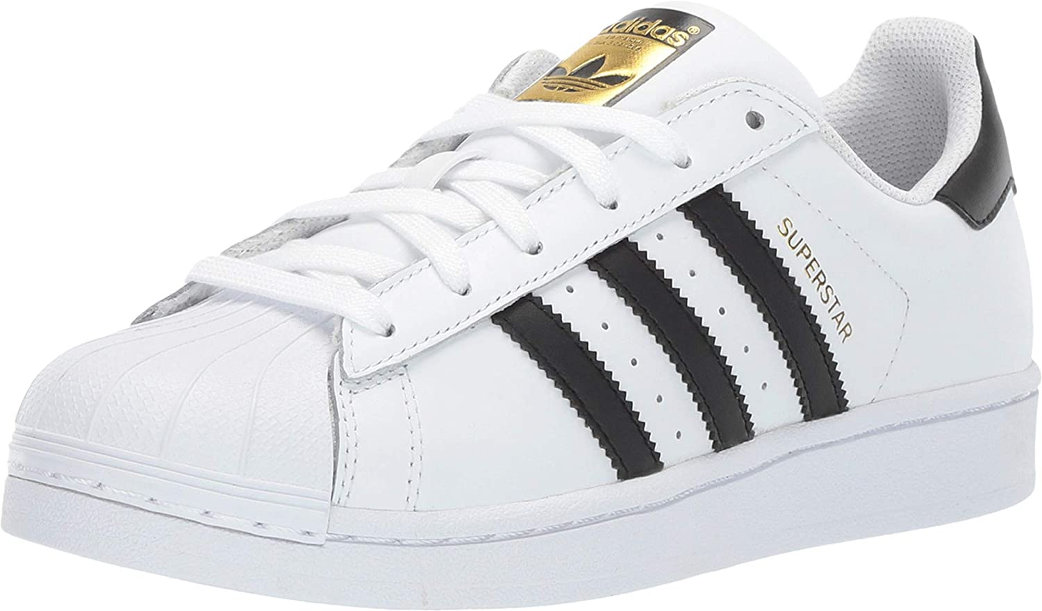 adidas Superstar Shoes Kids', White, Size 4