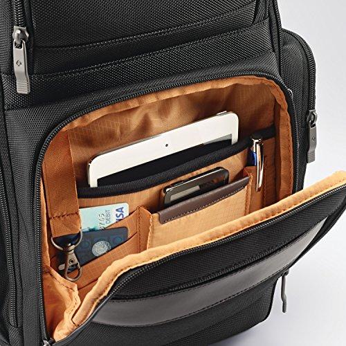 Samsonite Kombi 4 Square Backpack with Smart Sleeve, Black/Brown, 15.75 x 9 x 5.5-Inch