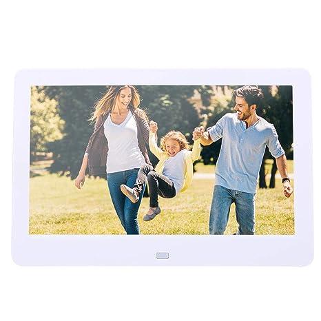 10 Pulgadas Marco de Fotos Digital, Alta resolución 1024 x 600 soutient Reloj Calendario Reproductor de mp3 y vídeo Tarjeta SD 32 G Marco de Fotos Digital ...