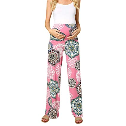 ae6658b69a6 Amazon.com: 2019-Women's Maternity Floral Easy Pants Pregnancy Trousers:  Home & Kitchen