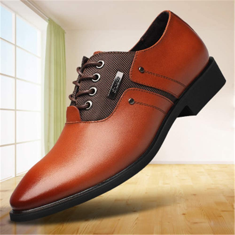 Men Perforated Lace-up Wingtip Leather Flat Oxfords Vintage Oxford Shoes Brogues