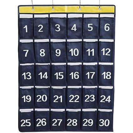 Amazon. Com: caveen numbered classroom pocket chart sundries.