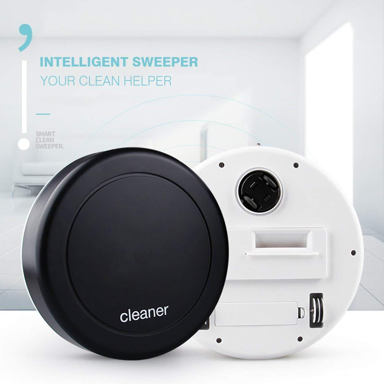 Lorenlli Robot de Limpieza Inteligente de la dirección automática Aspirador automático de la Suciedad del Polvo del Piso silencioso Máquina barredora de la ...