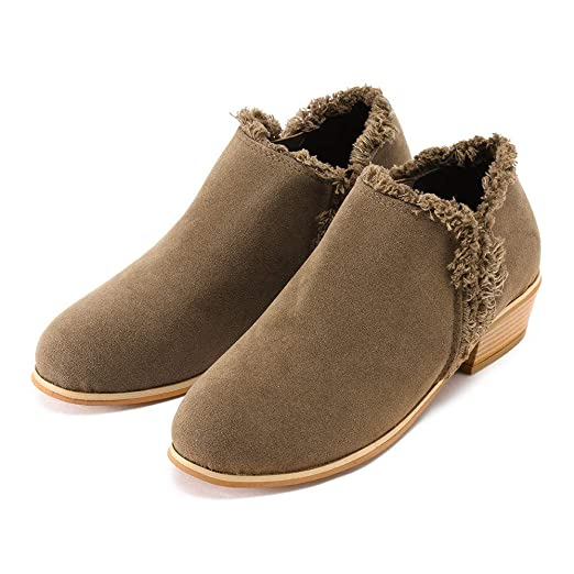 ❤ Botas Cortas para Mujer Antumn Invierno, Matorral de Moda para Mujer con Botas Sencillas Martin Boots británicos de tacón Alto Absolute: Amazon.es: ...