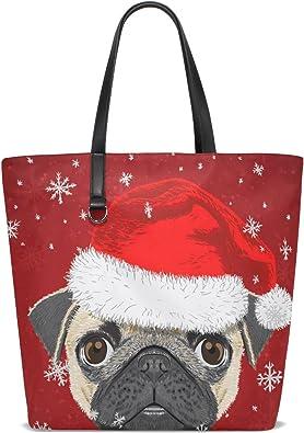 Christmas Dogs /& Girl Lovely Tote Bag