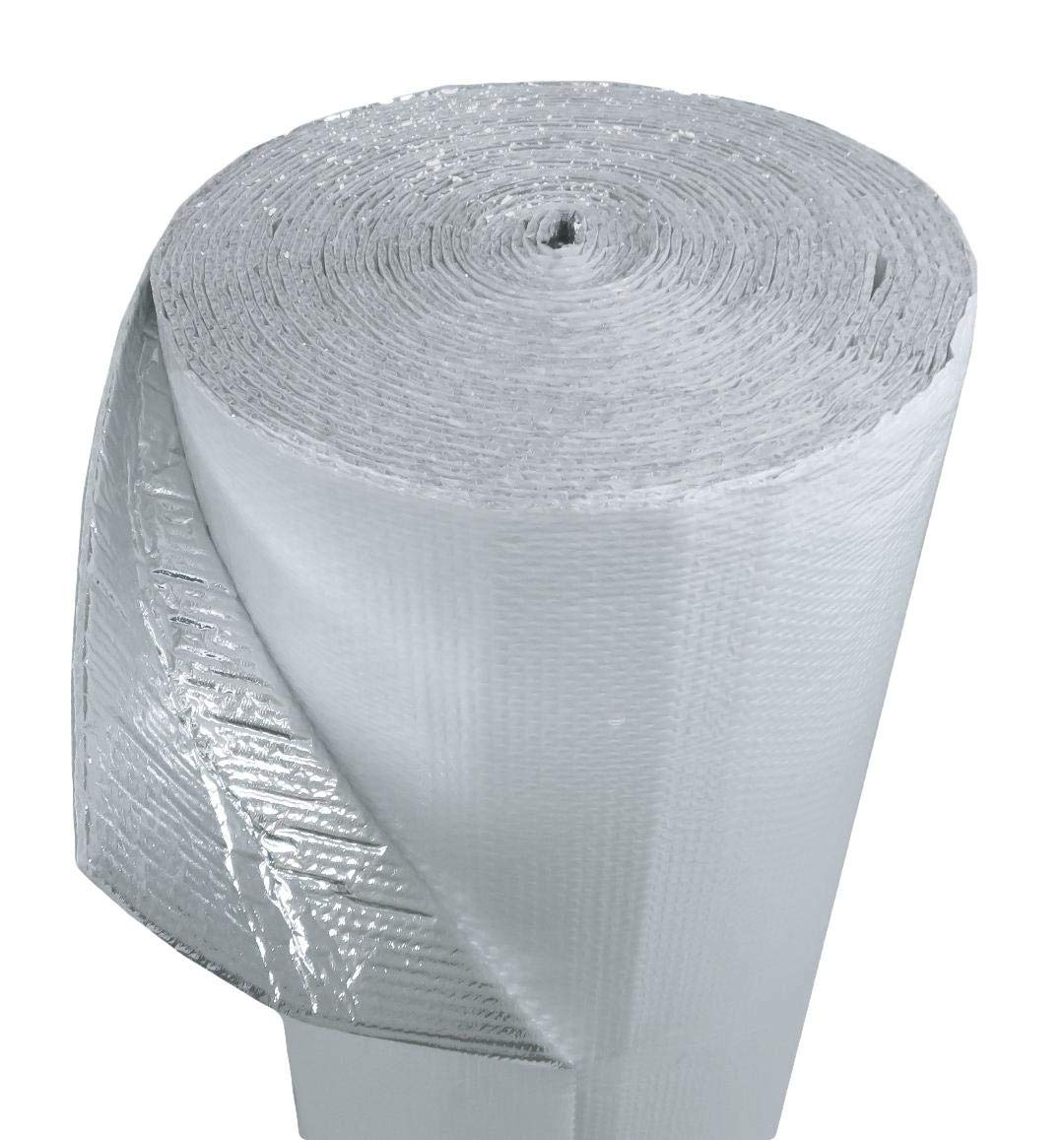 US Energy Products 200sqft 24''x100' White Single Bubble Reflective Foil Insulation Thermal Barrier Industrial Strength, Commercial Grade, No Tear Radiant Barrier Wrap for Weatherproofing Multipurpose by MWS