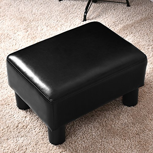 Review Giantex PU Leather Footstool