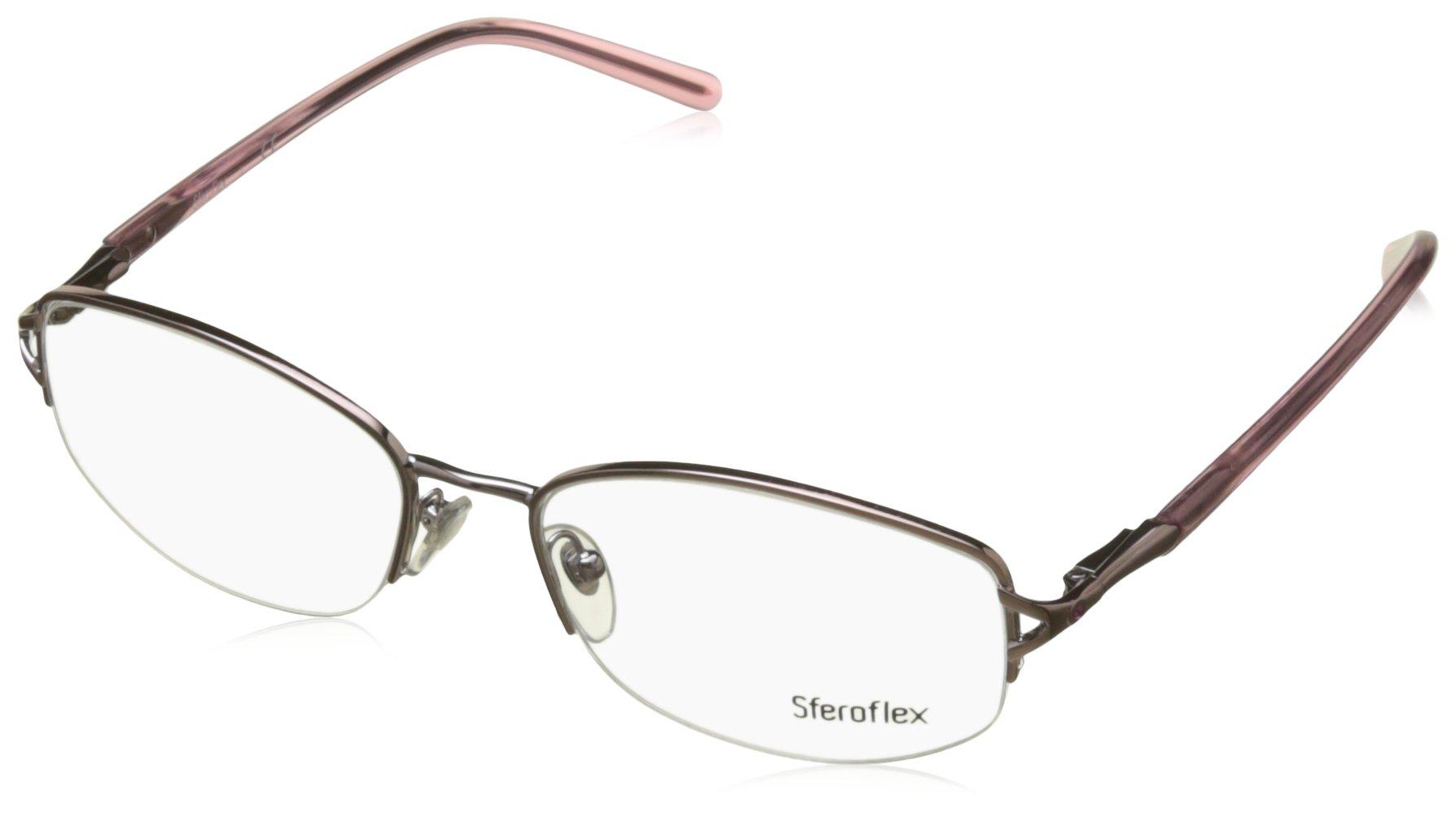 Sferoflex SF 2550B Eyeglasses Styles Light Pink Frame w/Non-Rx 53 mm Diameter Lenses, 299-5317,