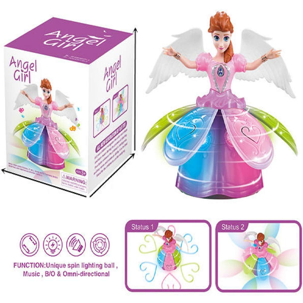 iGifts Inc. Girls Dancing Doll Fairy Robot Angel Toy w/ Spinning LED Lights & Music by iGifts Inc. (Image #2)
