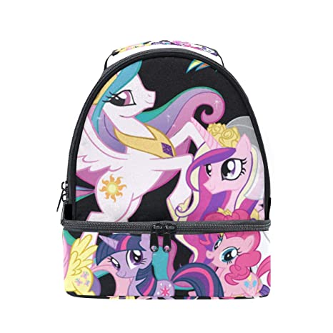 fe349b107819 Amazon.com: Lunch Bag My Little Pony Unicorn Family Womens Insulated ...