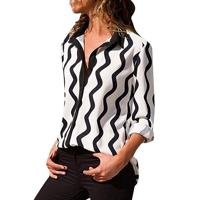 half off 57273 c7a2f Camicetta donna elegante manica lunga taglie forti V-Collo camicie donna  eleganti manica lunga bluse eleganti donna t shirt donna divertenti  magliette ...