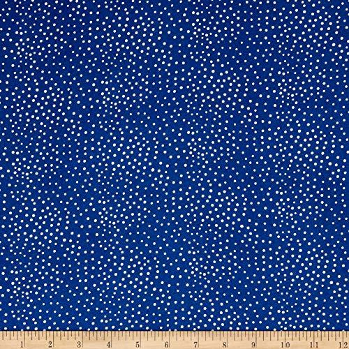 (Telio Dali Rayon Poplin Dot Fabric, Navy/Ecru, Fabric By The)