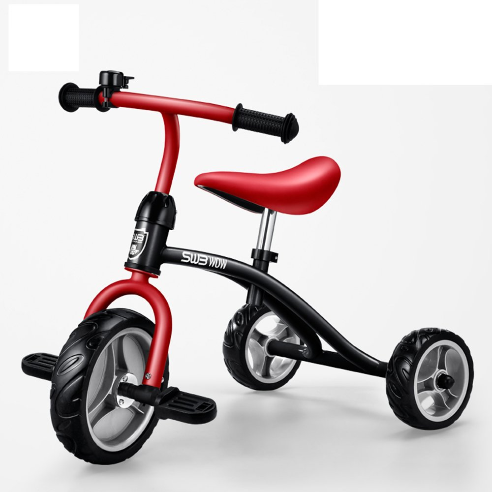 Rot Kinderfahrräder Guo Shop- 2-5-jährige Fahrräder, Kinder-Dreiräder, Baby-Trolleys, Kinderwagen, Fahrräder