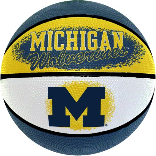 Michigan Wolverines Ncaa Basketball - NCAA Michigan Wolverines Mini Basketball, 7-Inches