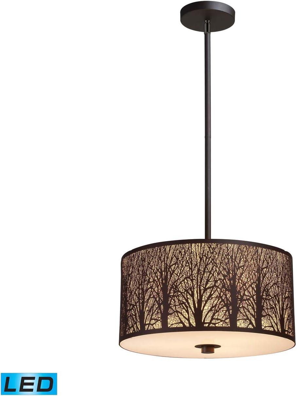 Elk Lighting 31074 3-LED Pendant Light, Aged Bronze