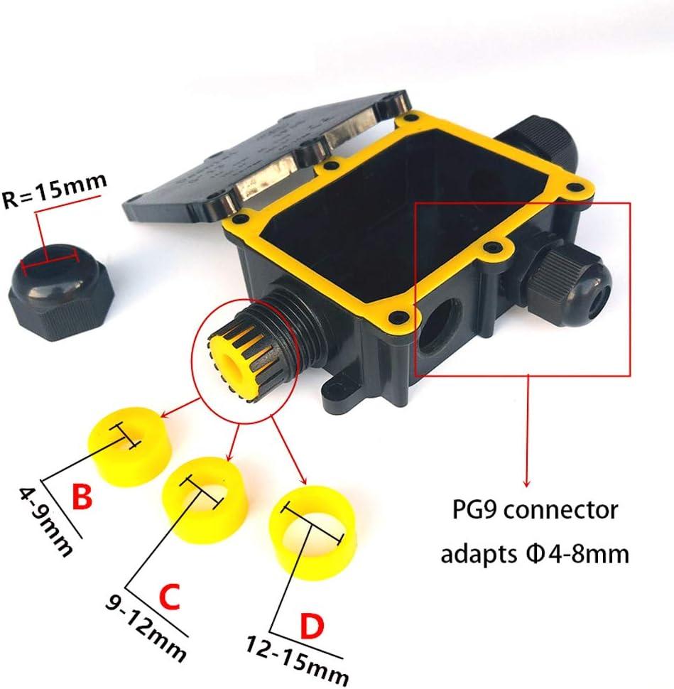 Baugger Connecteurs /À Manchon de Protection de Ligne Ext/érieure de C/âble Ext/érieur Souterrain /Étanche Ip68-2 Voies