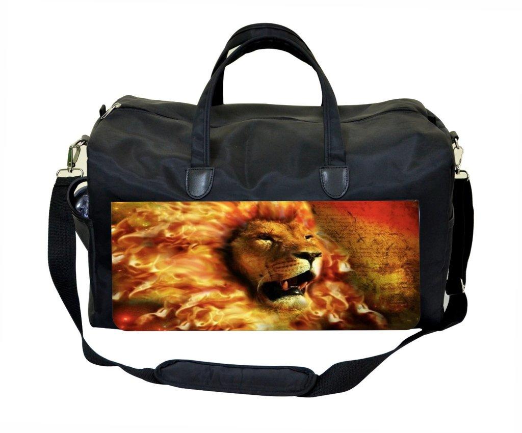 Jacks Outlet Fiery Lion Art Gym Bag