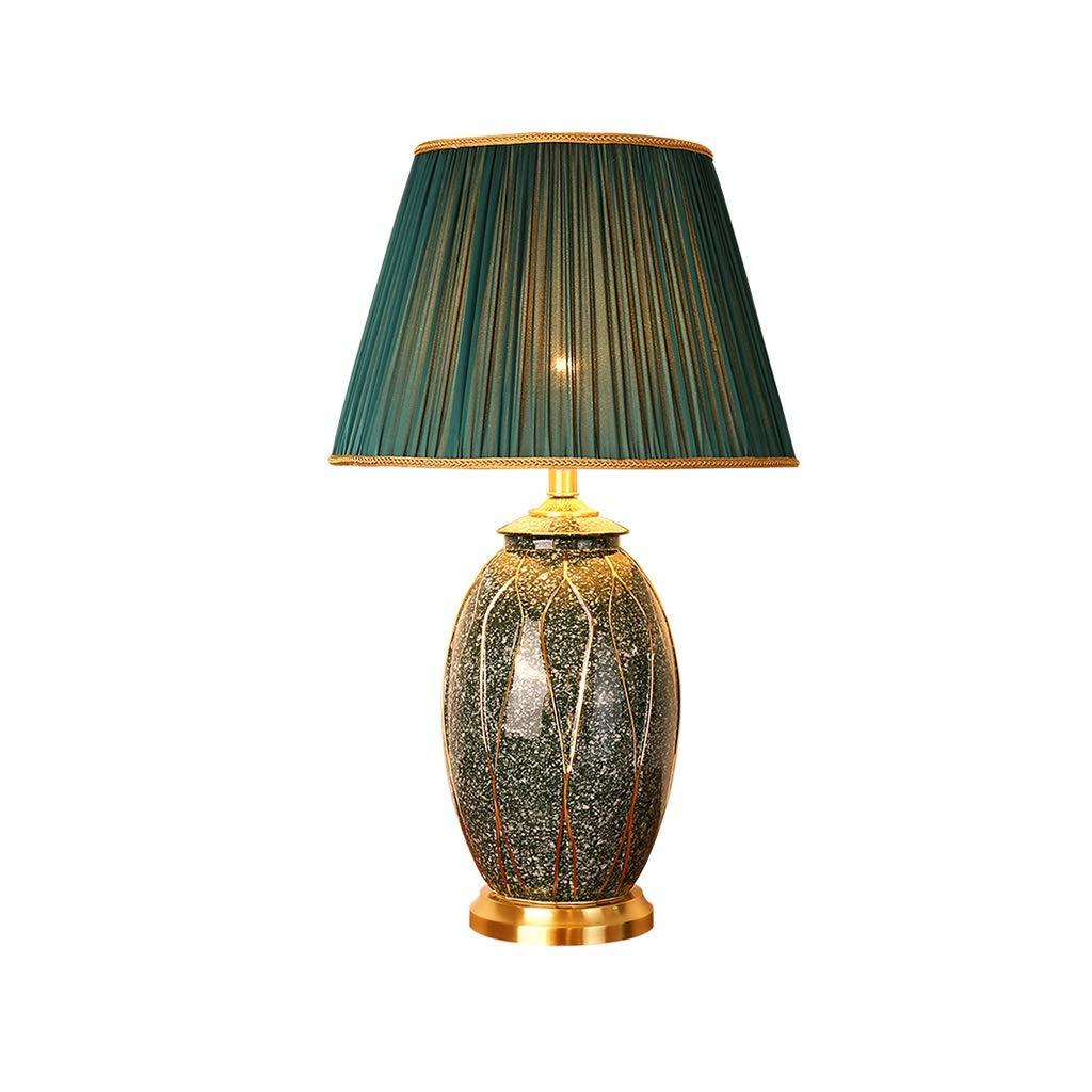 Beleuchtung/Innenbeleuchtung/Tisch- & Stehleuc Tischlampe Amerikanische Keramik Tischlampe Schlafzimmer Nachttischlampe Große Retro Gehobene Hotel Villa Dekoration Lampe Wohnzimmer Sofa Nebentisch