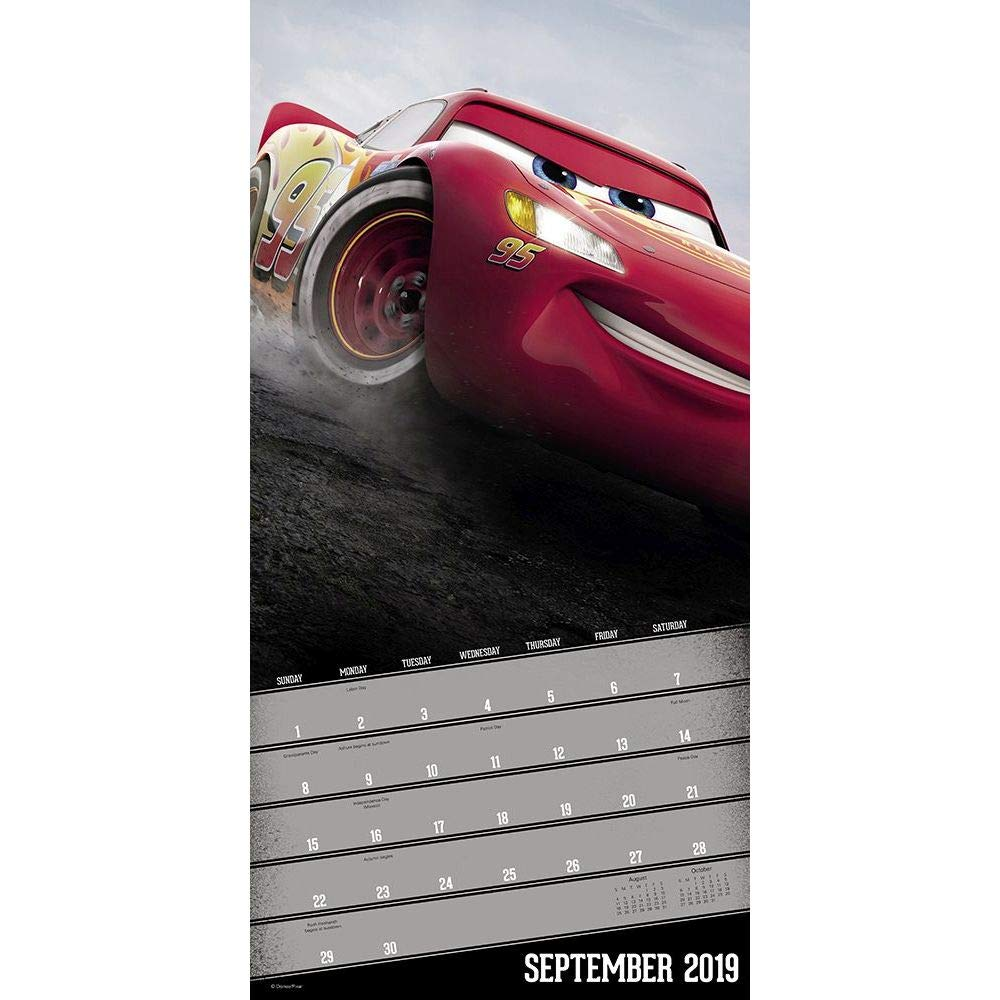 Calendario de pared 2019 Cars 2019, películas animadas por ...