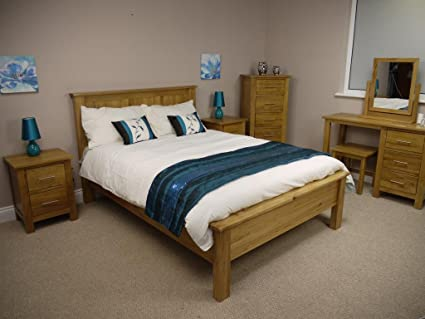Oakland roble – cama marco/3 0 única para somier