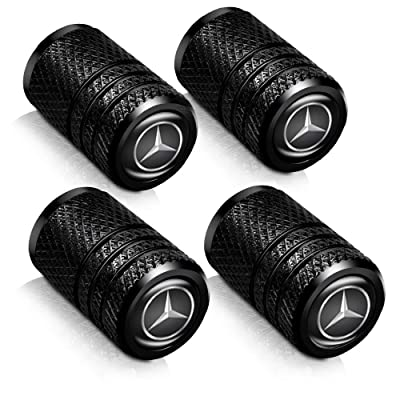 Baoxijie 4Pcs Metal Car Wheel Tire Valve Stem Caps for Mercedes Benz C E S M CLS CLK GLK GL A B AMG GLS GLE Logo Styling Decoration Accessories: Automotive