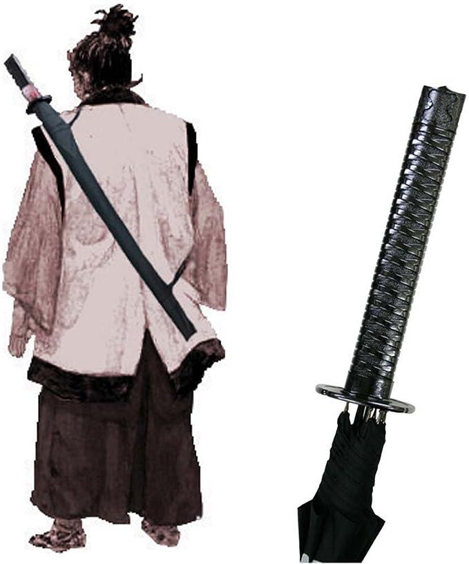 NOWON Nuevo Paraguas con Mango de Espada samur/ái Ninja Katana Paraguas Largo japon/és