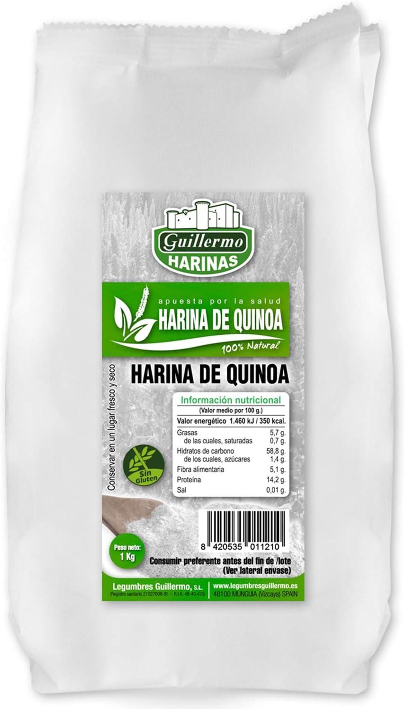 Guillermo Harina de Quinoa 100% Natural 1Kg: Amazon.es ...