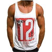 Camiseta de Tirantes Deportiva Hombre Tirantes Culturismo Fitness
