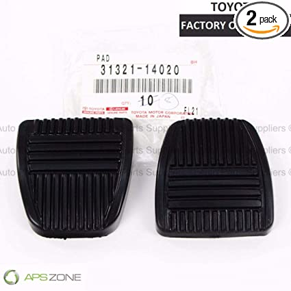 Amazon.com: Genuine OEM Toyota Brake/Clutch Pedal Pad Manual Trans 31321-14020 Set Of 2: Automotive