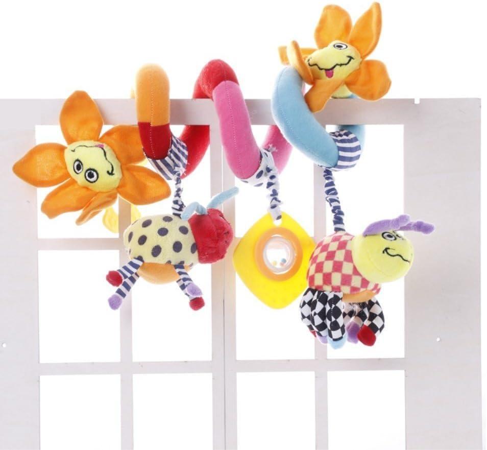 Bear OAMORE Kinderwagen Spielzeug Krippe Design Spirale Aktivit/ät H/ängen Spielzeug Pl/üschtiere Kinderwagen Mobile Autositz Kinderwagen Spielzeug