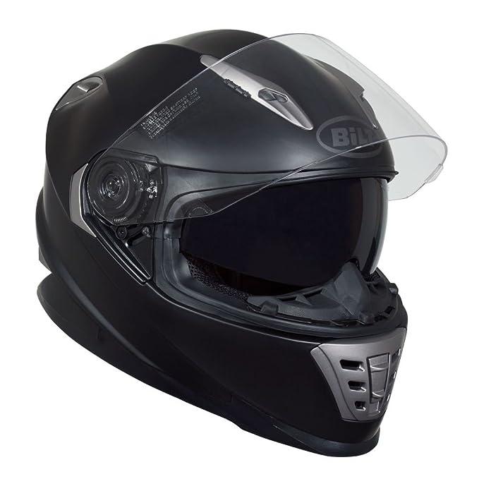 BILT Raptor Full-Face Motorcycle Helmet - LG, Matte Black