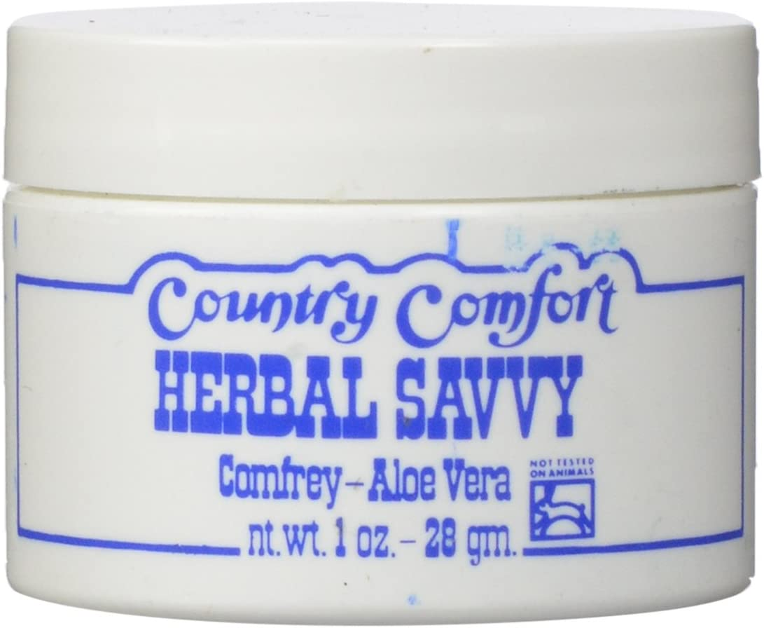 Country Comfort Herbal Savvy Comfrey, Aloe Vera, 1 Ounce