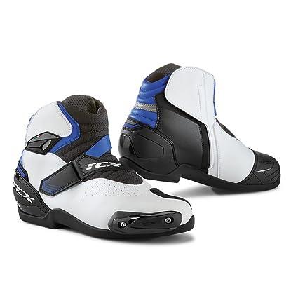 07cc903f6b1ea Amazon.com: TCX Boots Men's Roadster 2 Air Boots White/Black/Blue ...