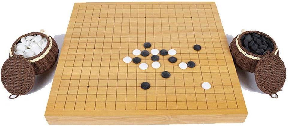 Go Game Set Juego de juego Go con tablero de bambú reversible Go ...