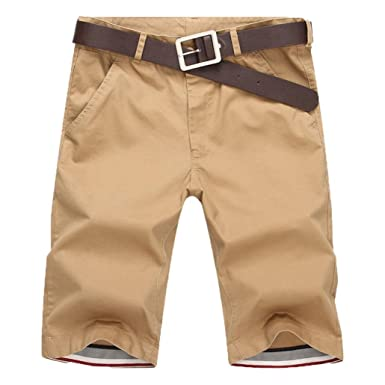 e8d76741cef1 BakeLIN Kurze Hosen Herren Sommer, Männer Baumwolle Casual Strand Shorts  Jogginghose Sweatshorts (Armee grün