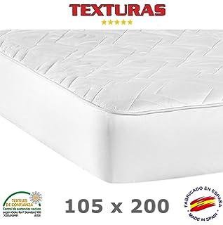 TEXTURAS BASICS - Protector de Colchón ACOLCHADO de microfibra para Hotel y Apartamentos ECONOMY (Varios