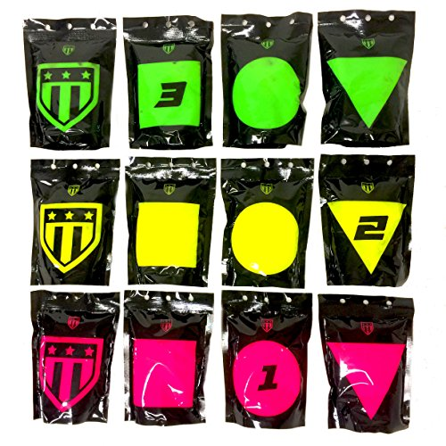 Triumph Systems Pop Packs - 12 Bursting Target Bags - Splatter Targets - Precision Range Target - Multi-Variable Shooting System - Reactive Target - Shooting Target
